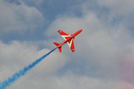Red Arrow Blue Banque d'images