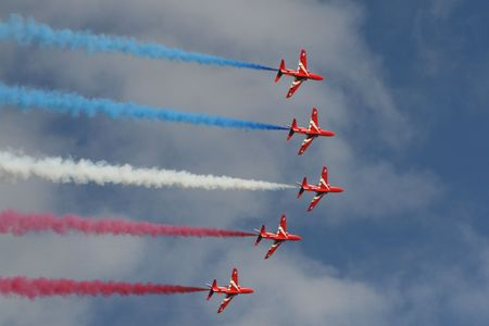 Red Arrows In Colour