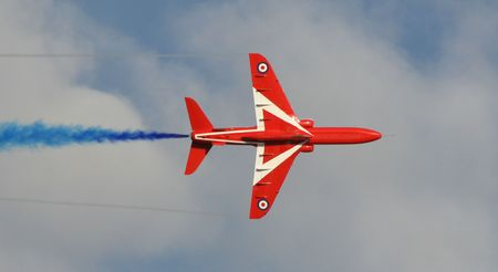 jets: Red Arrow Blue Stock Photo