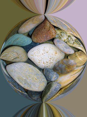 Coloured Pebbles photo
