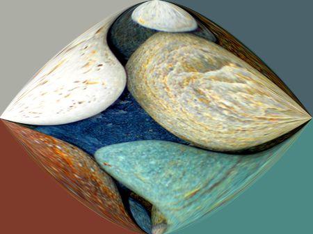 blended: Pebbles Blended Stock Photo
