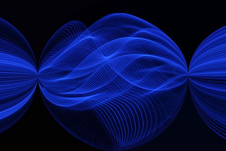 originate: Blue Light Sphere Stock Photo