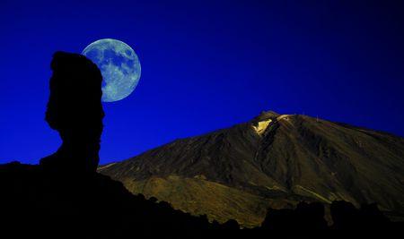 Blue Moon Tenerife Stock Photo - 828300