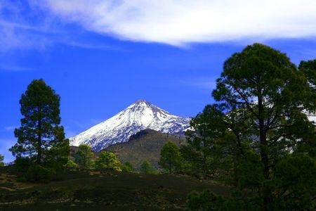 Snow Cap Teide Zdjęcie Seryjne