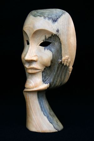 woodland sculpture: Face Mask