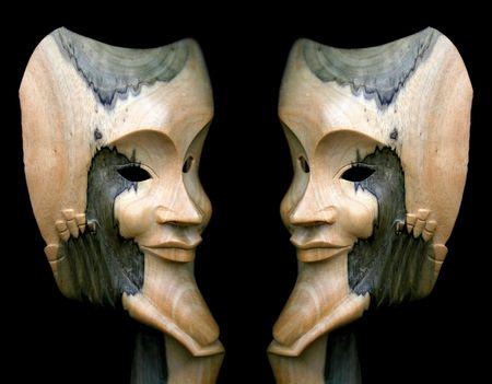 Mirrow Face Banque d'images