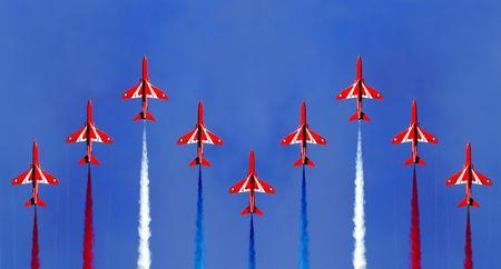 Red Arrow Display Formation Zdjęcie Seryjne