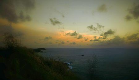 coast line: Phuket Sunset Scene Stock Photo