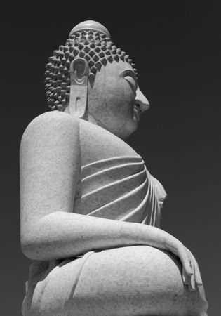 a righteous person: Phuket Buddha Grey