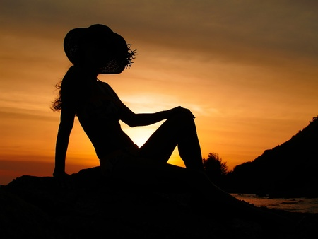 sculp: Romantic Sunset Silhouette