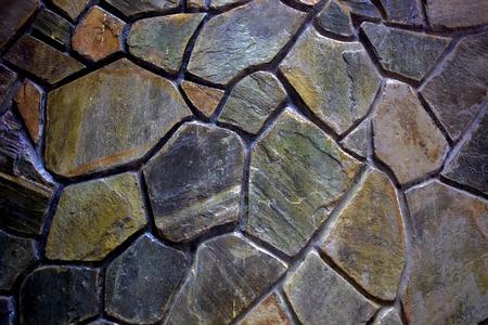 stone wall: Mosaic Stone Wall