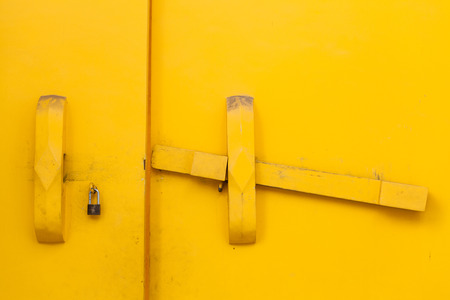 Yellow Door with the key photo