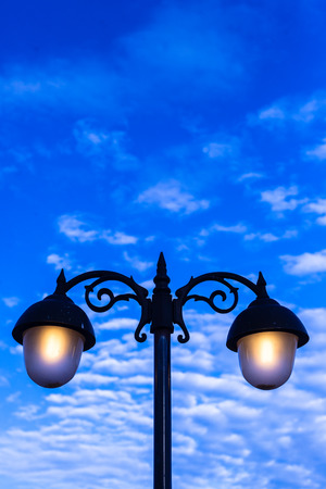 Lamp in Blue sky photo