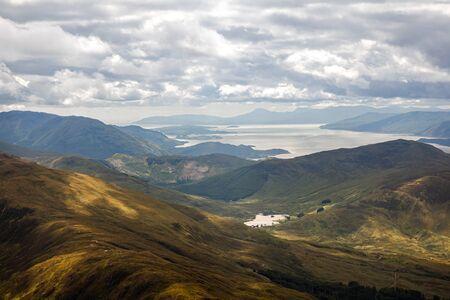 View from Ben Nevis on Loch Linnhe, Scotland