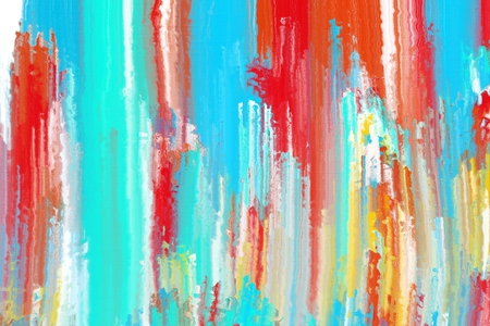 computer art: colorful abstract painting brush stroke