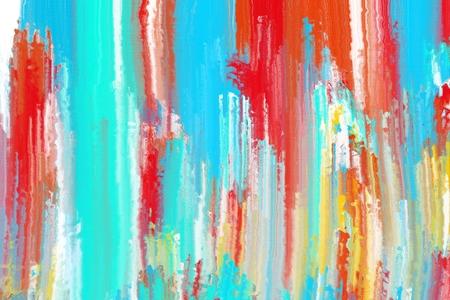 kleurrijke abstracte schilderkunst penseelstreek Stockfoto