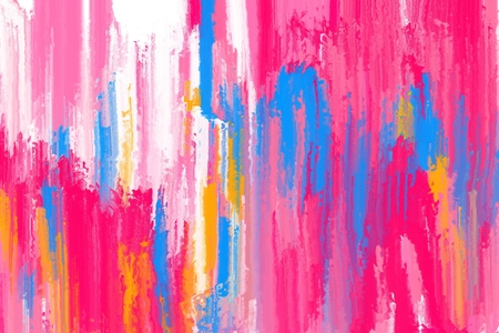 brush stroke: colorful abstract brush stroke painting Stock Photo