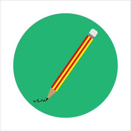 ion: flat Pencil Illustration