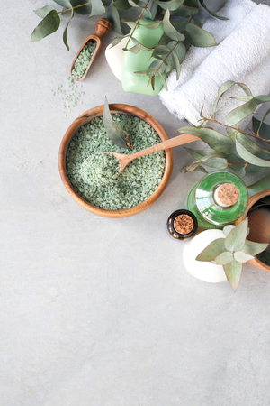 Massage and Spa products with  eucalyptus