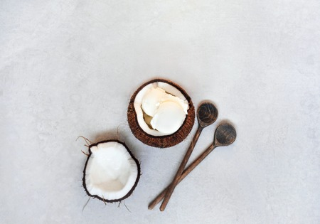 Coconut ice cream in coconut