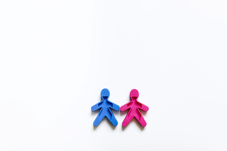 The family character of the colored men and women on a white background. Banque d'images - 103439811