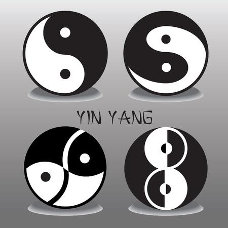 zen like: set of black and white Ying Yang