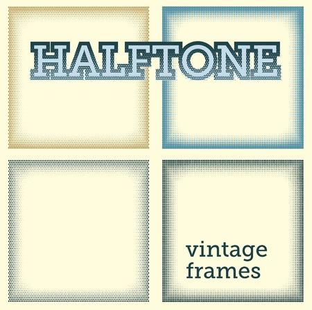halftones: set of halftones background  illustration  Illustration