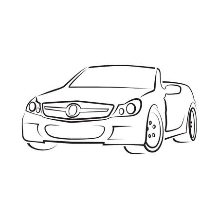 exotic car: illustration of a sports car cabriolet