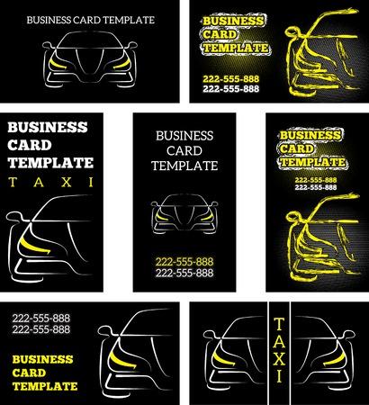plantilla para tarjetas: vector plantilla de la tarjeta de taxi autom�vil coche