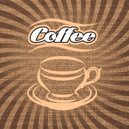 coffee sack: vector label for coffee on background with sacking Illustration