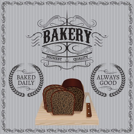 background with bread for a bakery Vector