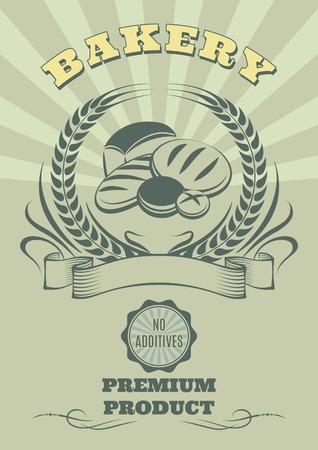 spikes: bekgraund logo vector para la cocci�n y el conjunto de pan