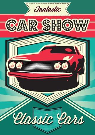 Vintage poster for the exhibition of cars
