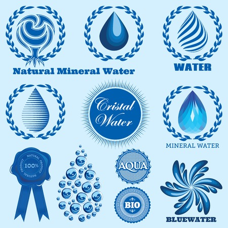 set of vector icons on the theme water Vector