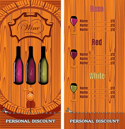 port wine: vector template for the cover of the wine list menu Illustration