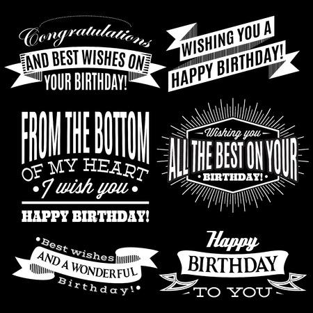 happy birthday cartoon: set of vector patterns for congratulations a happy birthday