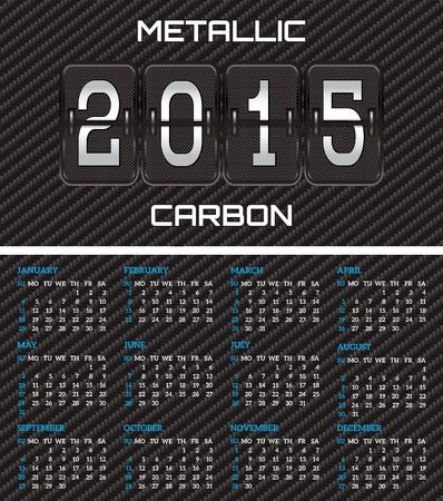 bilateral: bilateral business card with calendar and carbon fiber background