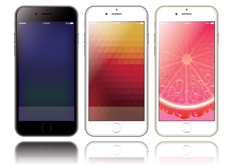 iphon: vector mockup of two smartphones for presentations and web design