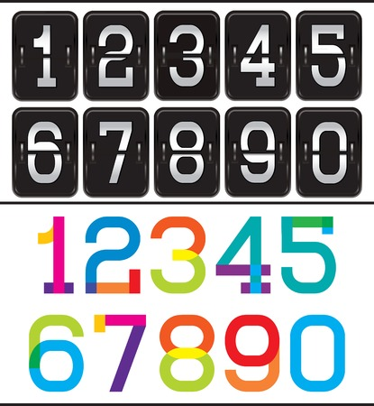 reversible: set of two sets of numbers for advertising and web design