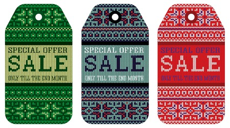 varicolored: vector knitting varicolored pattern ornament christmas sale
