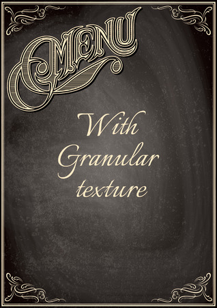 granular: vector black chalkboard with a granular texture Illustration