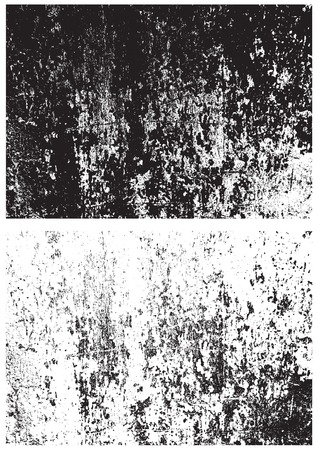 Grunge black and white texture. Distress texture. Scratch texture. Wall background. Rubber stamp texture. Rough texture. Rust texture. Damaged wall texture Vettoriali