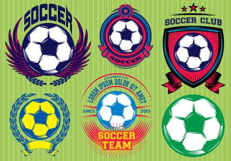 collegiate: Set of Soccer Football Badge and Design Templates