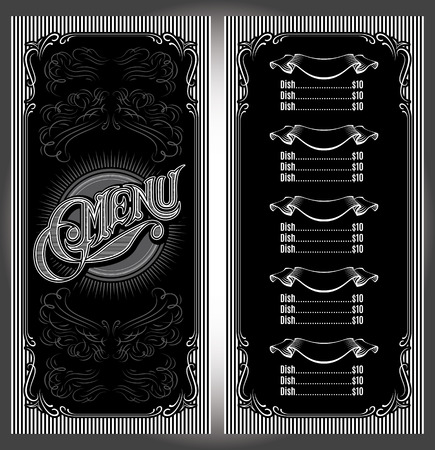 old bar: vector template for the cover of the menu