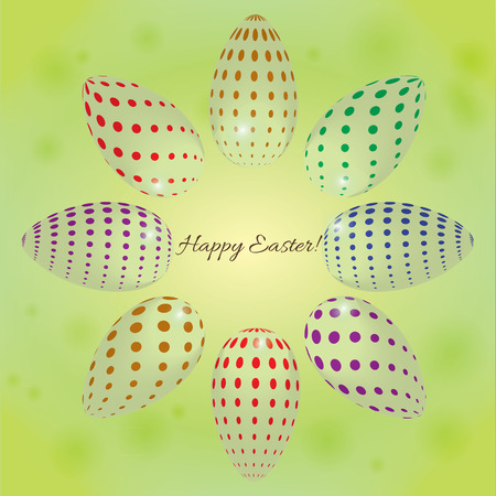 abstract vector background with colored eggs for Easter Vector