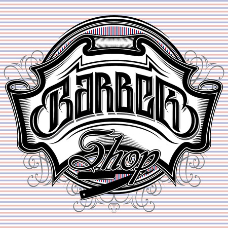 stylish vector sign for a barber shop Фото со стока - 39403163
