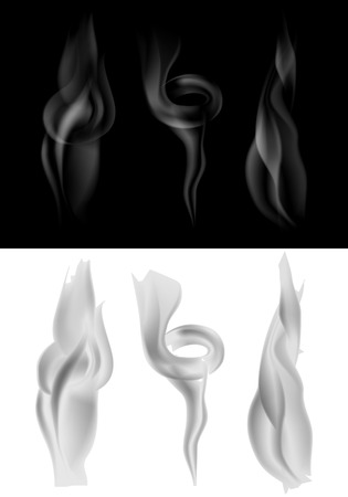 vector set of dark and light smoke Vector