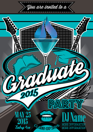 template for the posters of graduate party