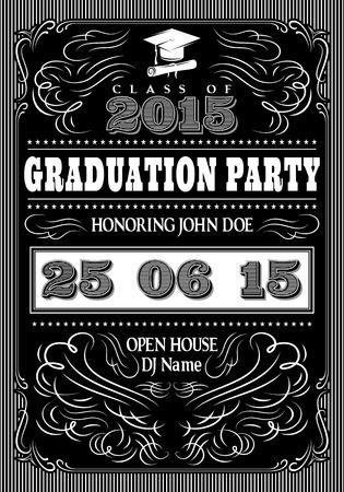 graduacion: plantilla para los carteles de la fiesta de posgrado