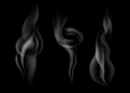 vector set of gradient dark smoke on black 免版税图像 - 41117629